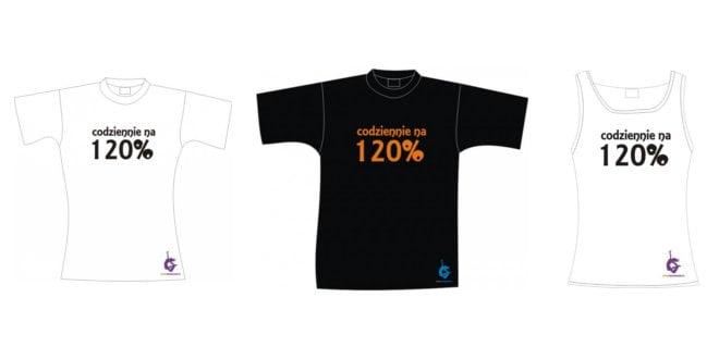 Zestaw koszulek fitness codziennie na 120%.