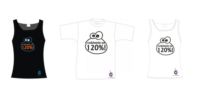 Zestaw koszulek motywujących do treningu codziennie na 120%