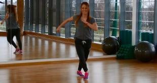 Film isntruktażowy kroków do aerobiku - Step Touch i V-Step