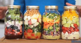 Niesamowicie zdrowe przepisy na 4 zdrowe sałatki.