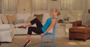 Łatwe ćwiczenia na krześle.