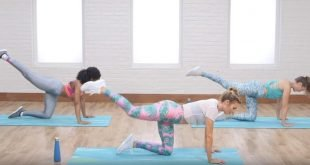 Trening na uda, pośladki i brzuch.