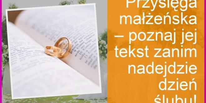 Co powinna zawierać idealna przysięga małżeńska?