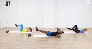 Intensywny trening HIIT spalający tkankę tłuszczową.