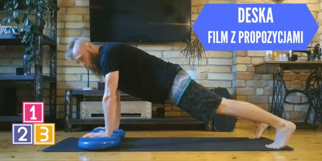 Warianty ćwiczenia deska. Film razem z omówieniem i przykładami ćwiczeń.