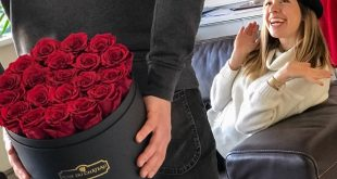 Idealny prezent dla kobiety to kosz świeżych i pachnących kwiatów.