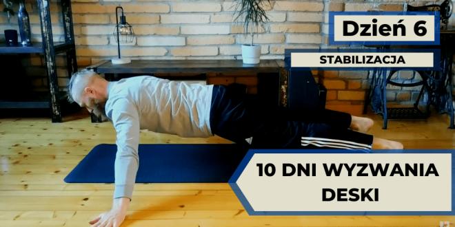 Ćwiczenie stabilizacji w wyzwaniu deski 10 dni.
