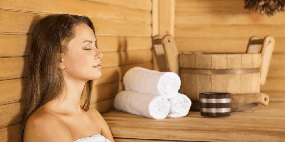 Sauna - doskonała forma regeneracji po ciężkim treningu.