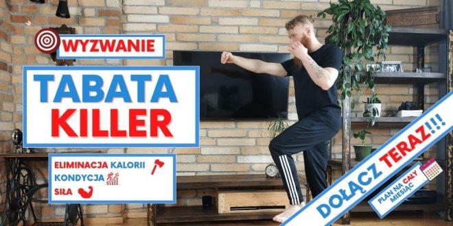 30 dni wyzwania brzuch, przysiady, plank - Tabata Killer