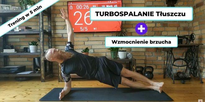 Ćwiczenia na spalanie tłuszczu dla początkujących - trening w 5 min.